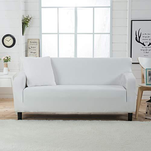 JiaQi Punto La Cubierta del sofá,Funda elástica,Espesar Antideslizante Funda de sofá Four Seasons Guardapolvo Sofá Fundas para sofá de Cuero-Blanco sofá