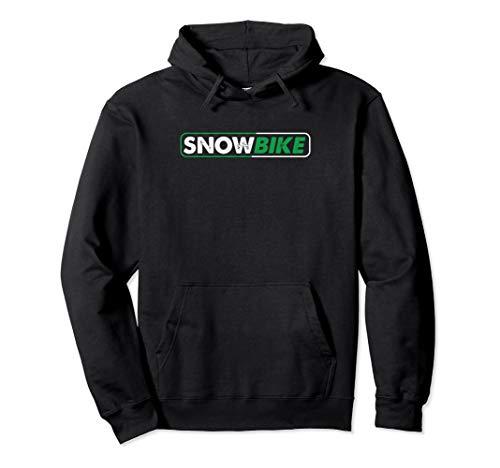 Snowbike Wintersport Schnee Snowbiker Fahrrad Kufen Geschenk Pullover Hoodie