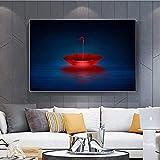 Póster de arte 60x80 cm, póster abstracto moderno sin marco, imagen de paraguas rojo, arte de pared, impresión HD, sala de estar, dormitorio, Cuadros, decoración