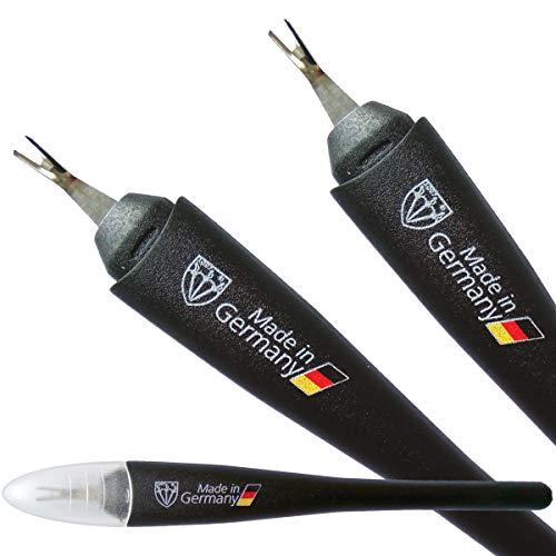 DREI SCHWERTER - Nagelhautmesser Nagelhautentferner mit V-Klinge (1 oder 2 Stück) - Markenqualität - Made in Germany