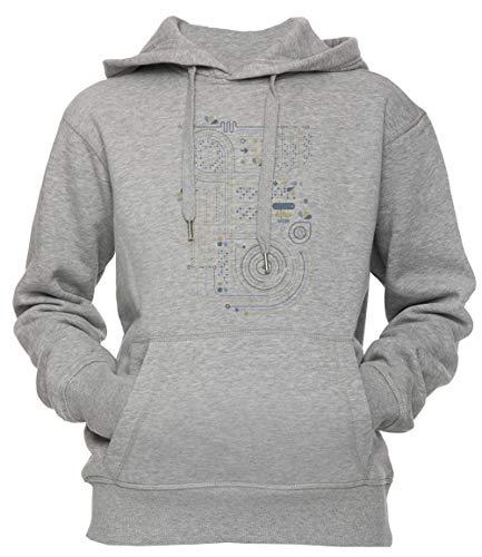 Erido Circuito 2 Unisexo Hombre Mujer Sudadera con Capucha Pullover Gris Tamaño XL Men's Women's Hoodie Sweatshirt Grey X-Large Size XL