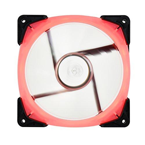 SilverStone SST-FW142-RGB - Serie FW Ventilador silencioso de refrigeración de 140mm PWM, Aspas Transparentes con Marco Negro, Rodamientos de Bolas, LED RGB
