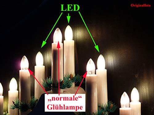 AUSWAHL-01-Watt-Filament-LED-TopkerzeRiffelkerzeSpitzschaftkerze-fr-innen-klar