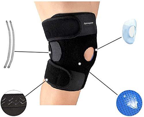 Kniebandage, Einzelbandage, Kompressionsbandage, Stabilisator für Arthritis, Meniskus, Patella, zum Laufen, für Männer und Frauen, 1 Stück, schwarz