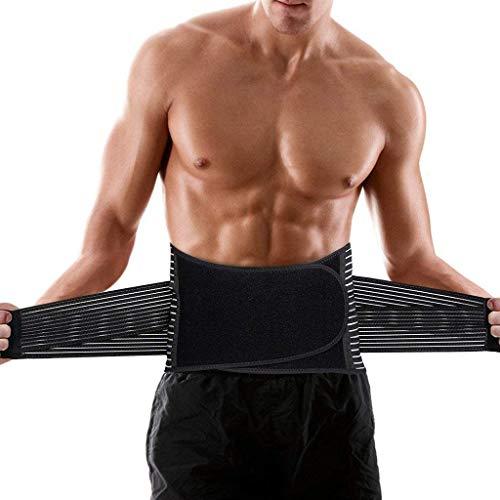 Lumbar para la Espalda, Soporte Lumbar para Aliviar el Dolor y Lesiones, Cinturon Lumbar Prevenir Daños, Faja Lumbar para la Espalda para Hombres/Mujer con Tirantes (Large)