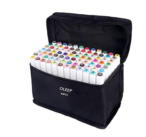 OLEEP 80 Colores Art Markers Rotulador permanente de