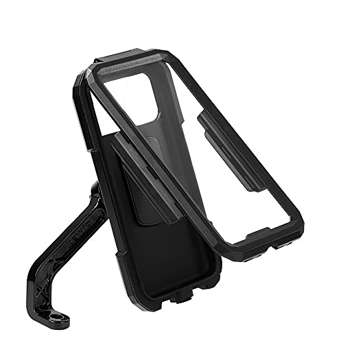 RUMUI Soporte para teléfono para Motocicleta y Bicicleta, Funda Impermeable para Manillar/Espejo retrovisor, Soporte para teléfono con rotación de 360 °