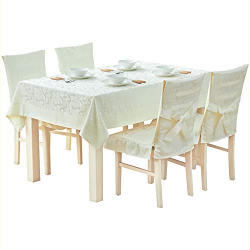 Qiao Jin tafelkleed, rechthoekig, landelijk vlas, wit, woonkamer, doek, tafelkleed, salontafel, kleine ronde tafel, tafelkleden