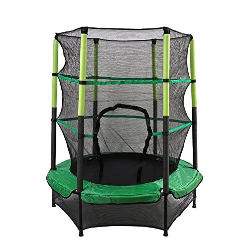 Trampolino da giardino per bambini, diametro 140 cm, con rete di sicurezza, portata fino a 50 kg, per esterni e interni