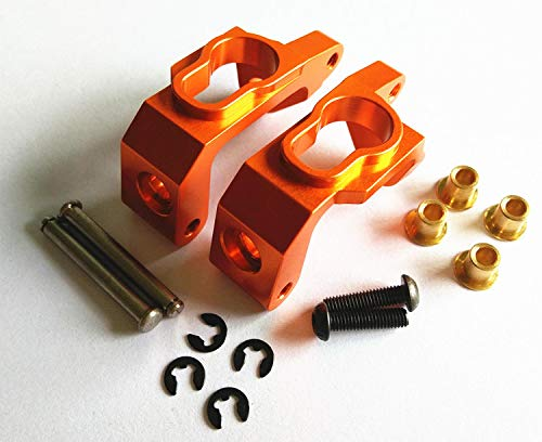 CrazyRacer H-P-I BULLET3.0 MT ST Ken Block WR8 Flux Upgrade Parts Aluminum Alloy Front C Hub Carriers-1PR Set for 101209 Orange