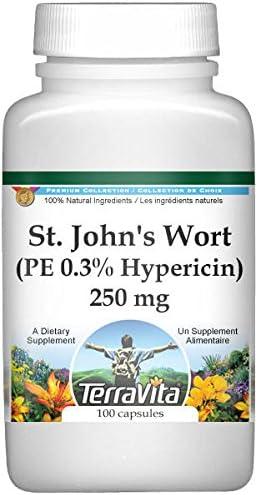 Ranking TOP9 Extra Strength St. John's Wort PE Mesa Mall - 100 250 Hypericin mg 0.3%