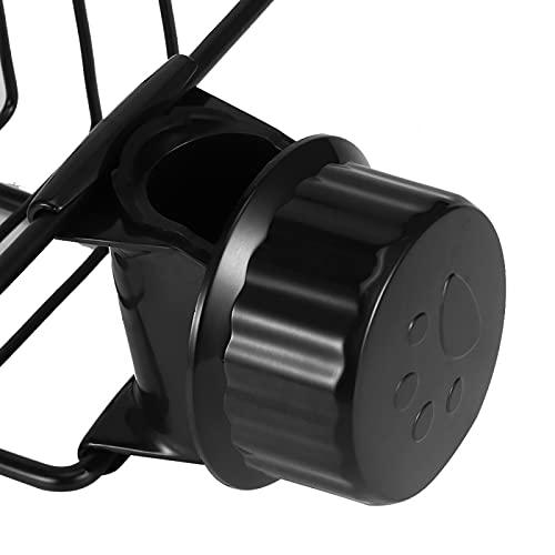 Emoshayoga Organizador de Almacenamiento sin Perforaciones Creativo Estante de Drenaje para baño(Black RY-SLZW-H)