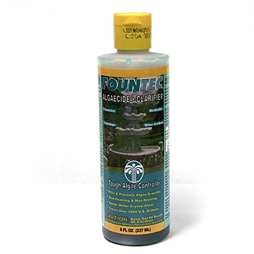 EasyCare 2 PACK FounTec Algaecide and Clarifier - 8 oz, Yellow