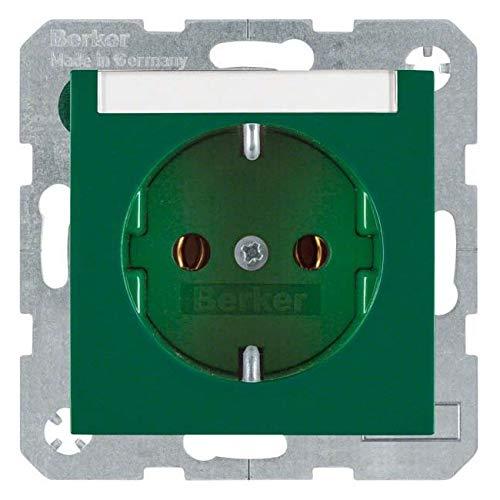 Berker 47508903 stopcontact type F groen zilver IP20 250V 16A