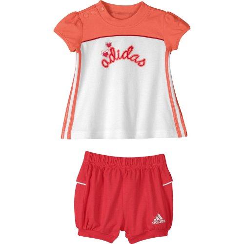 adidas Adigirl Verano Set, Infantil niña, Rosa y Blanco