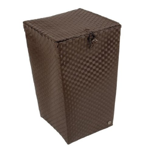 Venice Laundry Basket Dark Taupe Dark Taupe 52 x 33 x 33 cm [A]
