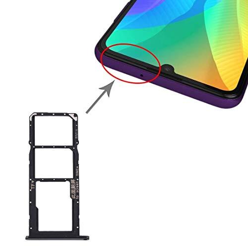 DOMINIC La Bandeja de Tarjeta SD Bandeja de Tarjeta SIM Bandeja de Tarjeta SIM + + Micro for Huawei Y6p Bandeja (Color : Black)