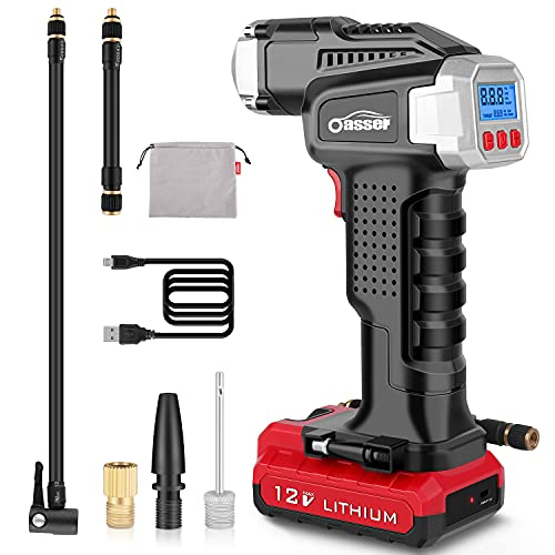 Cordless Tire Inflator with Gauge
