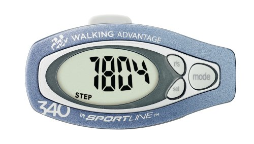 Sportline 340 Step and Distance Pedometer- Includes Pedometer, Warranty Card, Instruction Sheet and Walking Book