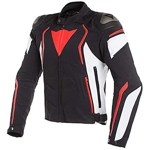 Chaqueta Moto Hombre Textil Impermeable con Armadura Traje de Ciclismo de Motocicleta Chaqueta Cuatro Estaciones Repelente al Agua de Invierno Traje de Rally Anticaída C,XXL