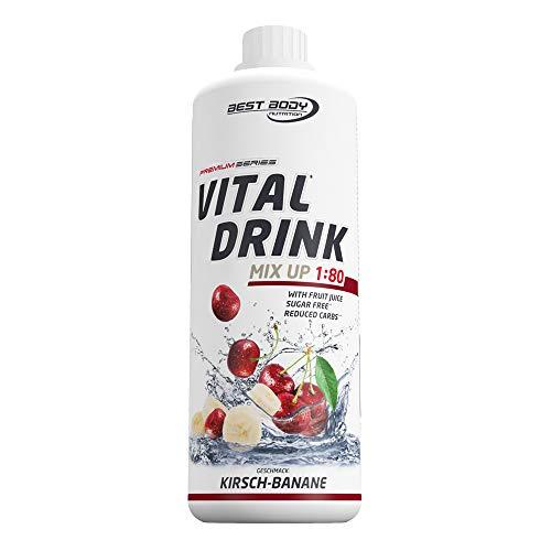 Best Body Nutrition Vital Drink Kirsch-Banane, Getränkekonzentrat, 1000 ml Flasche