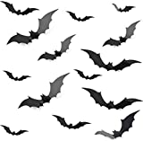 DIY Halloween Party Supplies PVC 3D Decorative Scary Bats Wall Decal Wall stickers,Halloween Eve gothic home Decor Home Window indoor Decoration bathroom decor Set, 28pcs, Black
