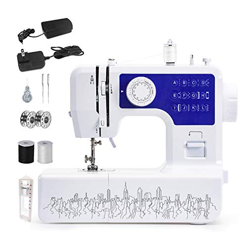 Ledph NäHmaschine AnfäNger, Overlock NäHmaschine mit 2 Gang FußPedal Double Speed Control KindernäHmaschine, Elektrische Embroidery Machine füR Profi AnfäNger DIY Begeister