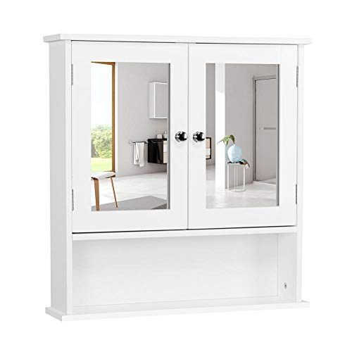 Yaheetech Medicine Cabinets Wooden Bathroom Wall Cabinet