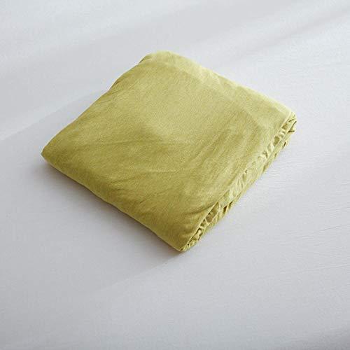 LCFCYY Sábana Ajustable de Premium,Sábanas de algodón Suaves y cómodas,niños,niñas,Dormitorio,Dormitorio,hogar,colchón,Protector Yellow 120 * 200cm