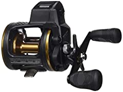 Direct drive built-in line counter Automatic, self engaging clutch Machined aluminum spool Direct drive built-in line counter that measures in feet Automatic, self engaging clutch Machined Aluminum Spool Ultimate Tournament carbon drag (UTD) One-piec...