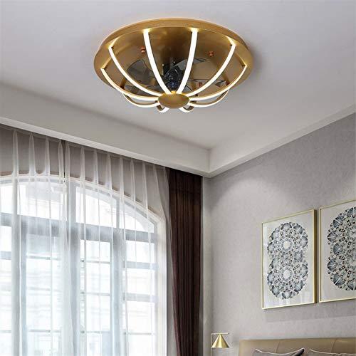 DULG Dormitorio Techo Ventilador Lámpara Control Remoto Dimensión Nordicante Invisible Techo Ventilador con iluminación LED Moderno Minimalista Minimalista Lámpara de Ventilador de Techo, Ajustable 3