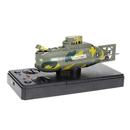 STOBOK Juguete Submarino de plástico Control Remoto Mini Barco de Juguete 3.7v Impermeable RC Modelo Submarino Regalo para niños niños
