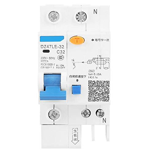 Stromschutzschalter, 1P + N C32 FI-Schutzschalter 30 mA 230 V Fehlerstromschutzschalter DZ47LE-32 für Heimdekoration, Maschinenbau