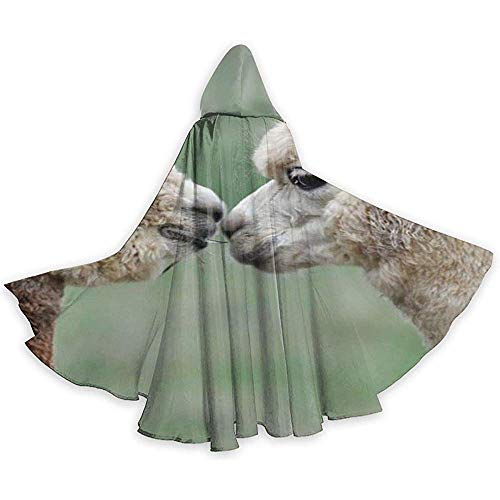 Funny Alpaca Adult Tunika Hooded Knight Halloween Mantel Robe Kostüm Weihnachten, 59Inch (150,40Cm)