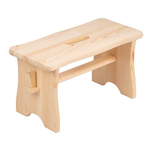 Holzstuhl, Stuhl zur Selbstmontage, Fußbank aus Holz, Fußstütze in Hellbraun, Fusshocker