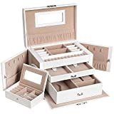 Best Jewelry Boxes - SONGMICS Jewellery Box, Jewellery Organiser with 2 Drawers Review