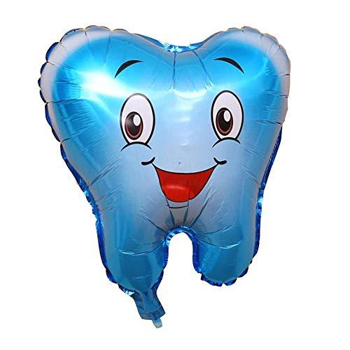 QJKai Lächelnzahnzahn-Aluminiumballongesundheitsschutz zahnmedizinische unterrichtende Ausrüstungs-Partydekoration 10 Stücke