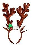 Lovelegis Orejas de Reno - Felpa - sonajeros - Orejas - Adulto - marrón - Idea de Regalo para cumpleaños