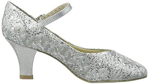 So Danca Bl166, Damen Tanzschuhe-Standard & Latein, Silber (Silver Sparkle), 39.5/40 EU (6.5 UK) - 2