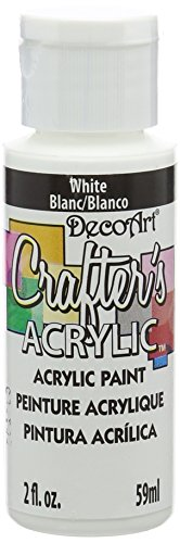 DecoArt DCA01-3 Crafter's Acrylic Paint, 2-Ounce, White