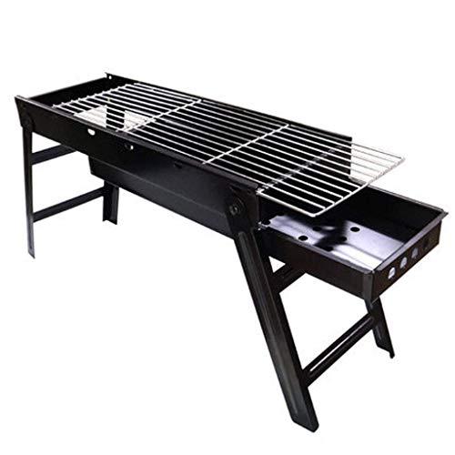 Petit Barbecue au charbon, durable et facile à nettoyer Barbecue au charbon, for extérieur Griller facile à transporter Convient, Noir FACAI (Size : B)