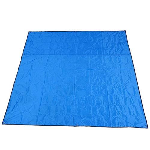 HXF Hautfreundlich Picknick-Matte Strandmatte Folding Strandmatte Zelt-Matten-bewegliche wasserdicht 215 × 215cm Atmungsaktiv (Color : Blue)