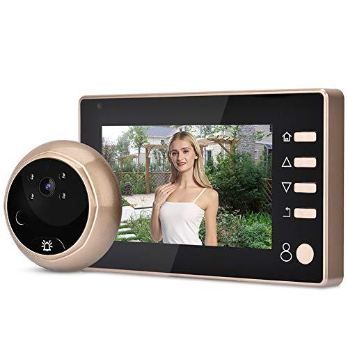 HD kijkgaatje camera monitor, 4,3 inch video deurbel kit met nachtzicht, PIR sensor, 1280 * 960P camera monitor voor thuisbeveiliging.