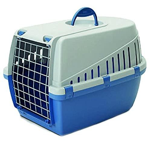 Savic Cage de Transport pour Animal de Compagnie Trotter 2 Bleu/Gris Clair 56 x 37,5 x 33 cm