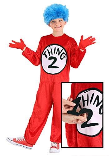 Dr. Seuss Thing 1 & Thing 2 Costume for Kids Size 4-6