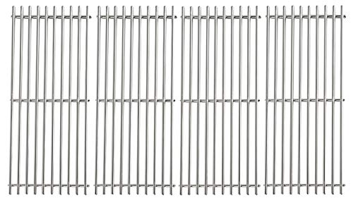 PETKAO 19 1/4' x 7 7/8' Stainless Steel Cooking Grill Grates for Turbo CG4CKW, CG4TCBN, CG4TCBRN, CG4TCN, CG4TDBRN, CG4TDN, CG5TCBN, CG5TCBRN, Nexgrill 720-0584A, Perfect Flame 720-0335 Grill, 4PCS