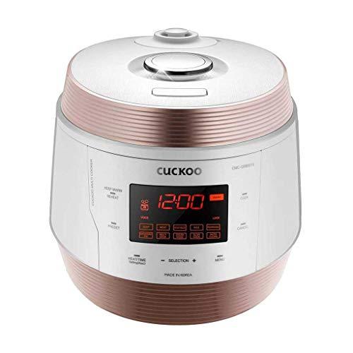 CUCKOO CMC-QSB501S ICOOK Q5 Premium Dampfdruck Multikocher 4750ml | 8in1 Multifunktionsgerät | Sprachnavigation | 3D Heiztechnologie | Warmhaltefunktion | Edelstahl-Innentopf mit Antihaft-Beschichtung