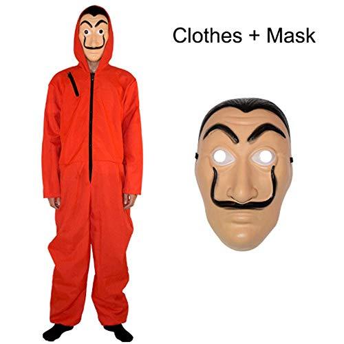 ZHANGXX Halloween Party Cosplay Spanje Salvador Dali Film Kostuum overval Papier Huis La Casa De Papel Cosplay Kostuum en masker