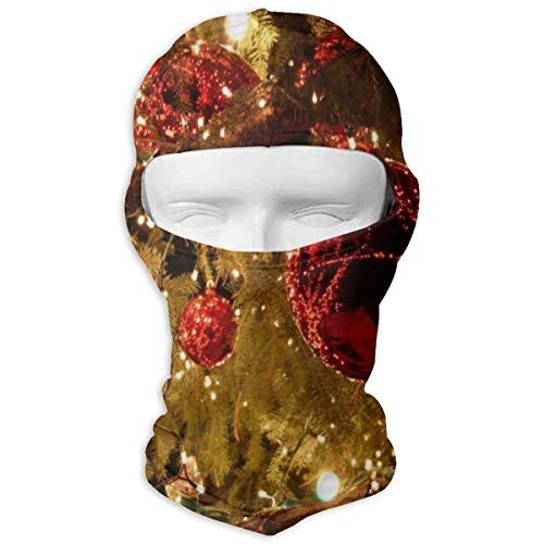 Sitear kerst speelgoed twijgen dennenaalden slinger volledig gezicht masker kap hals warm voor mannen en vrouwen outdoor sport winddicht zonnebrandcrème gepersonaliseerd