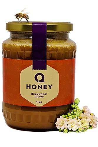 Puur rauwe boekweit honing 100% natuurlijk, ongefilterd, onverwarmd, niet gepasteuriseerd 1 kg